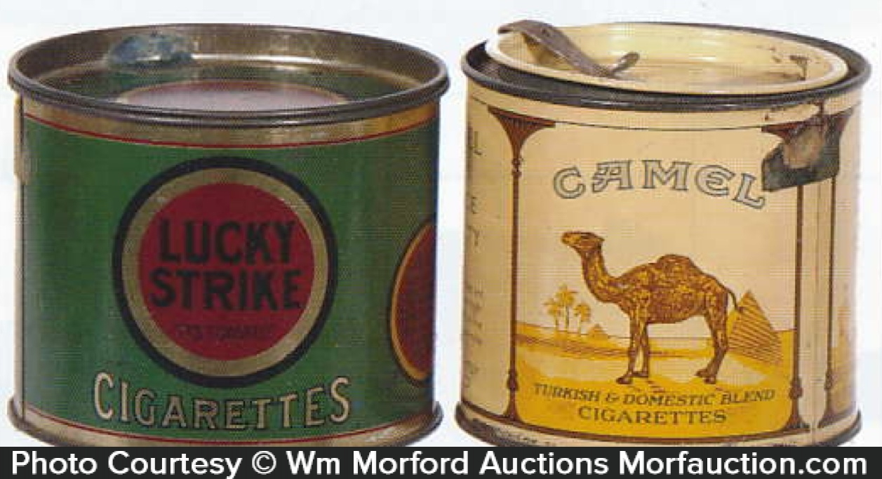 Vintage cigarette tins that