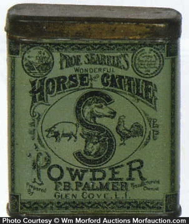 Professor Searle's Horse Cattle Powder Tin