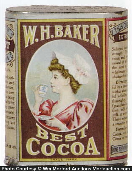 W. H. Baker Best Cocoa Tin