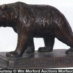 Railroad Bear Paperweight