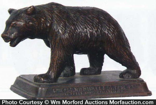 Railroad Bear Paperweight
