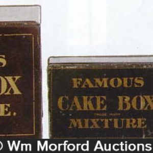 Famous Cake Box Tobacco Tins