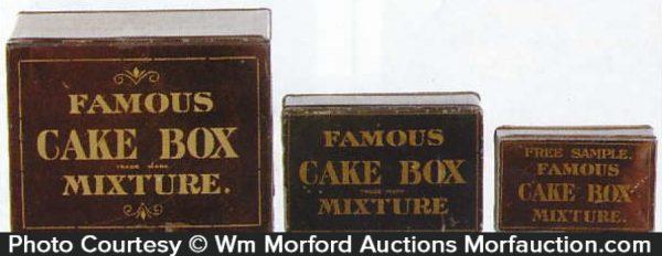 Famous Cake Box Tobacco Tins