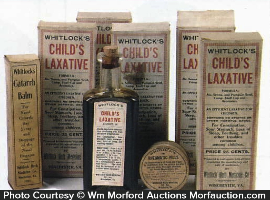 Whitlock's Child's Laxative Bottles