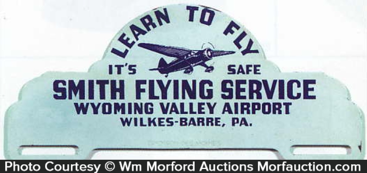 Smith Flying Service License Plate
