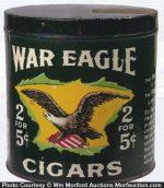 War Eagle Cigar Can
