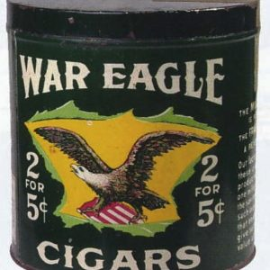 War Eagle Cigar Can
