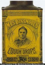 Mrs. Dinsmore's Cough Drop Tin
