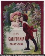 California Fruit Gum Sign