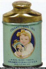Colgate's Baby Talc Sample
