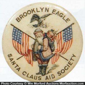 Brooklyn Eagle Santa Pin