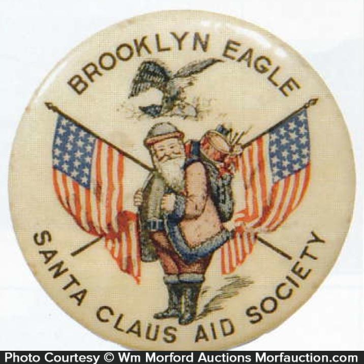 Brooklyn Eagle Santa Pin