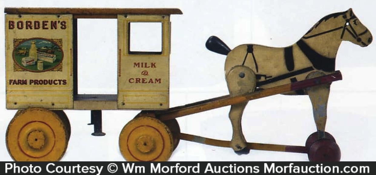 Borden's Milk Wagon Toy