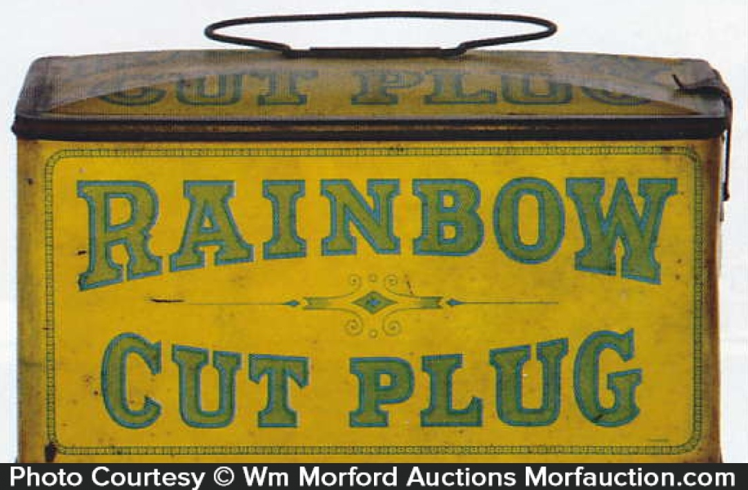 Rainbow Cut Plug Tobacco Tin Pail