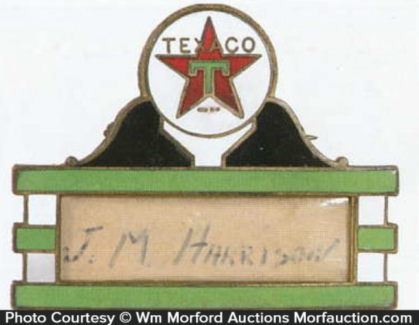 Texaco Badge