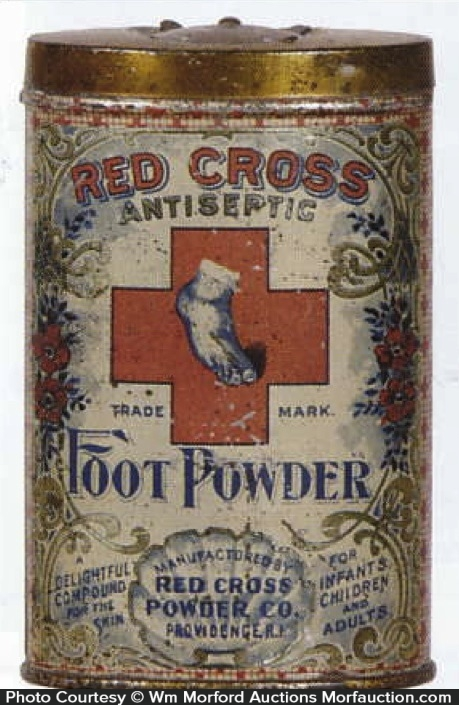 Red Cross Foot Powder Tin
