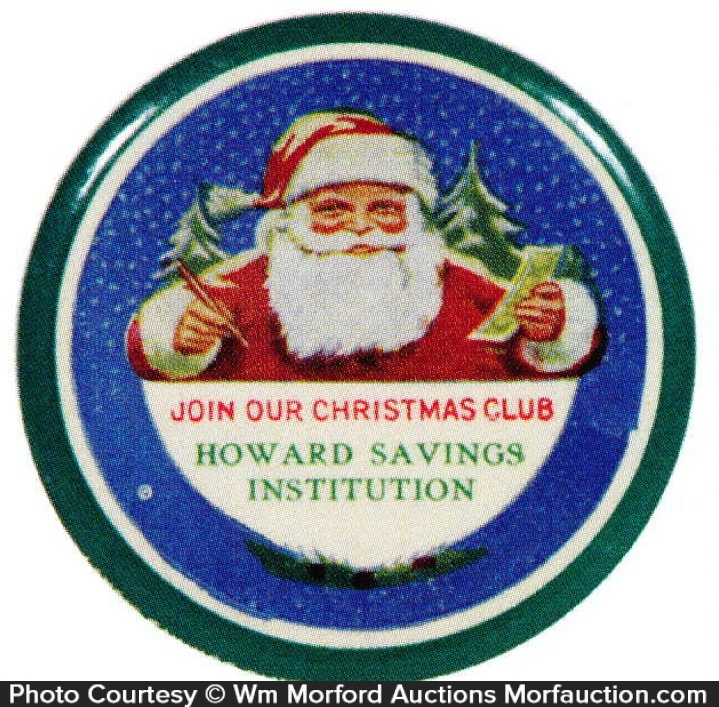 Howard Savings Santa Mirror