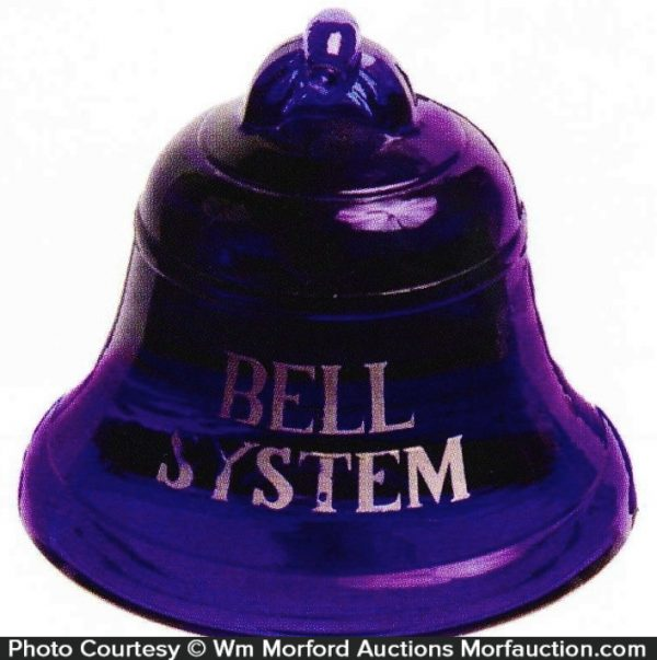 Bell System Glass Paperweight