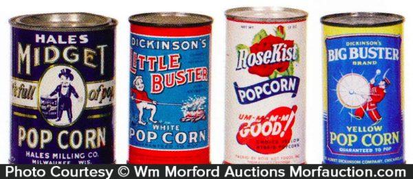 Vintage Pop Corn Tins