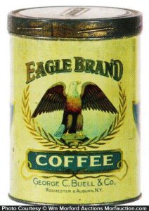 Eagle Coffee Tin Can