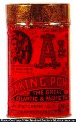 A&P Baking Powder Tin