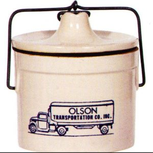Olson Transportation Stoneware Crock