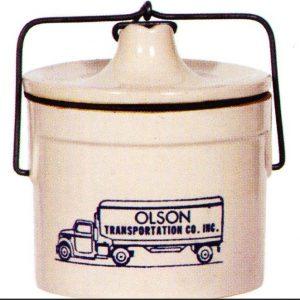 Olson Transportation Stoneware Crock