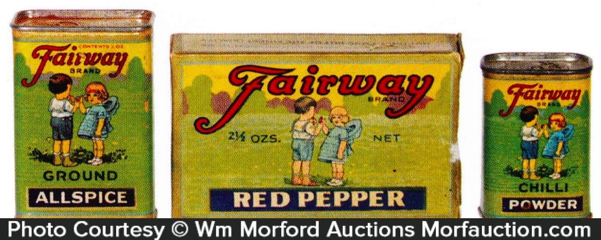Vintage Fairway Spice Tins