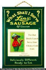 Lins' Sausages Sign