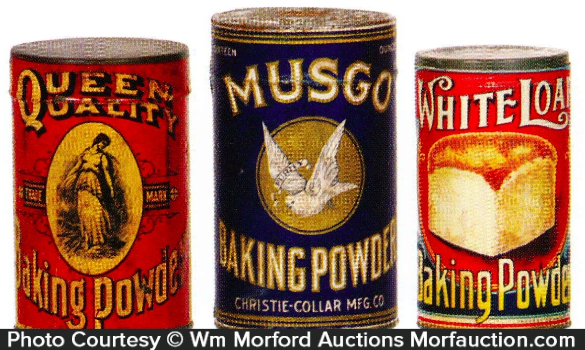 Antique Advertising | Vintage Baking Powder Tins • Antique ...