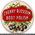 Cherry Blossom Boot Polish Sign