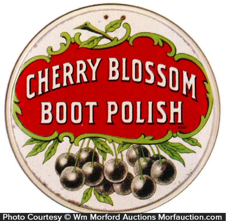 Cherry Blossom Boot Polish Sign