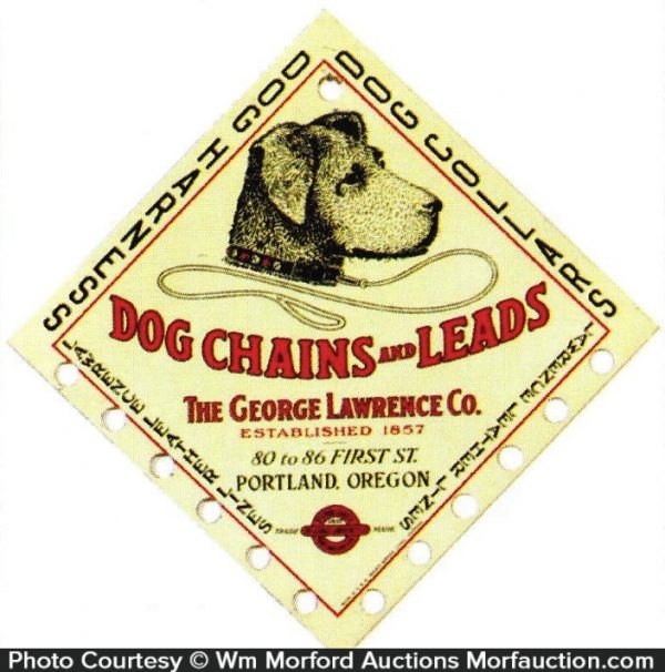 Lawrence Dog Chains and Leads Sign