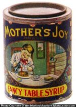 Mothers Joy Syrup Tin