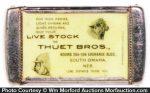 Thuet Bros Live Stock Match Safe