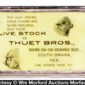 Thuet Bros Live Stock Match Safe