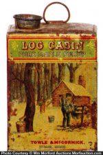 Log Cabin Syrup Tin Can