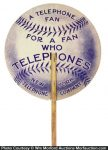 New York Telephone Baseball Fan