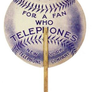 New York Telephone Baseball Fan