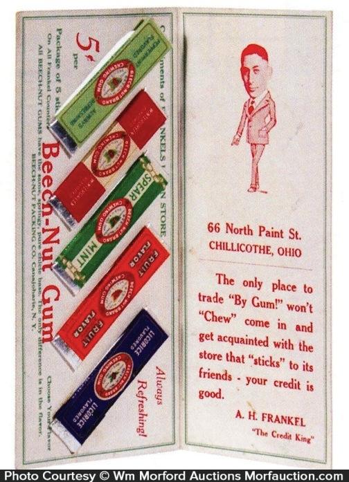 Beech-Nut Gum Stick Display