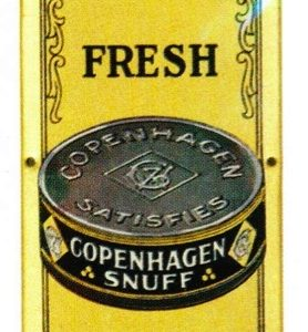 Copenhagen Snuff Tobacco Door Push