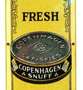 Copenhagen Snuff Tobacco Door Push