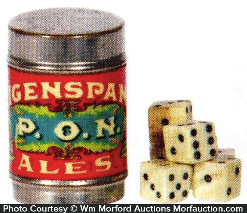 Feigenspan's P.O.N. Ale Dice Game