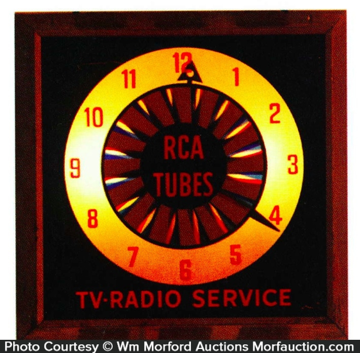 Rca Tubes Light-Up Clock