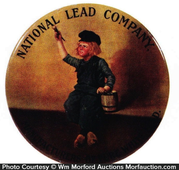 National Lead Company Paperweight Mirror