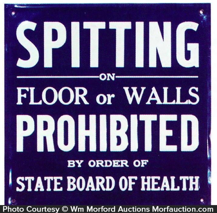 Spitting Prohibited Sign