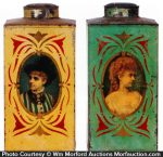Stenciled Store Tins
