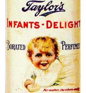 Taylor's Infants-Delight Talcum Tin