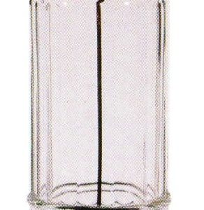 Pattern Glass Straw Holder