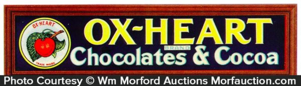 Ox Heart Chocolate Sign
